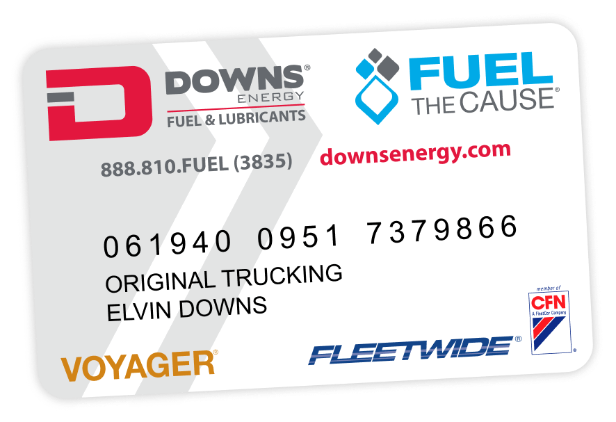 downs energy fuel fleet card