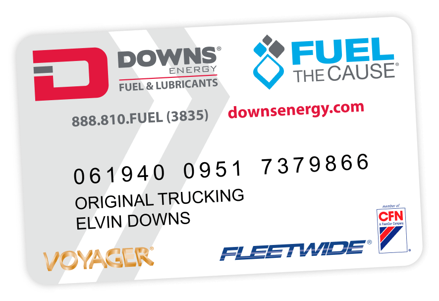 downs energy fuel fleet card
