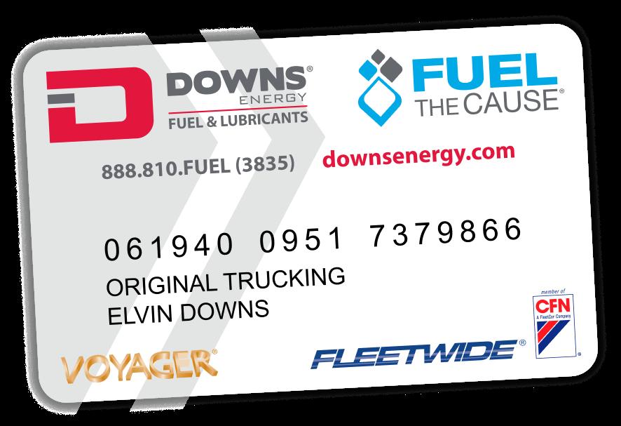 downs energy card