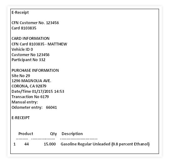 e-receipt